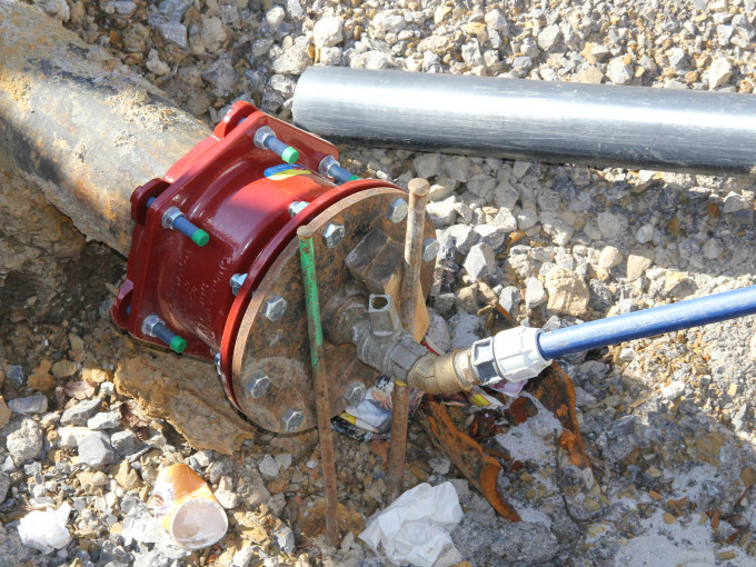 Anschluss an eine Wasserleitung