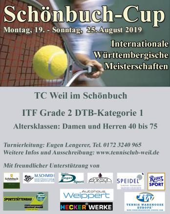 Tennis-Turnier Schönbuch Cup 2019