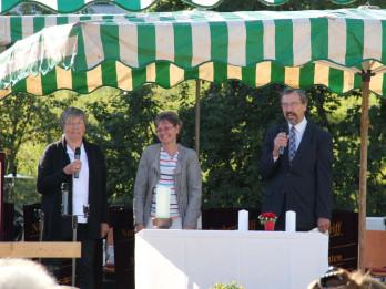 Ökumenischer Gottesdienst mit Iris Frech, Darlene Fluegel und Pfarrer Kurt Vogelgsang