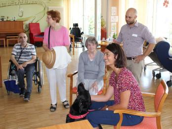 Therapiehund im Haus Martinus