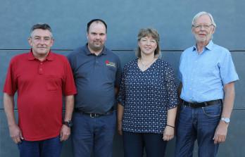V.l.: Ralf Kowarsch, Sascha Huber, Tanja Kuttner, Hajo Sparke